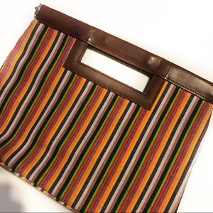 Gap Vintage Stripe Mutli-Colored Clutch
